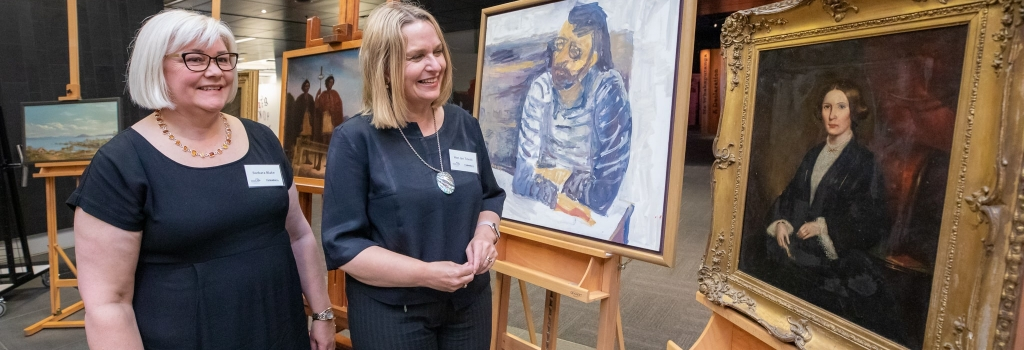 Raising money to repair oil paintings in Turnbull Library collection